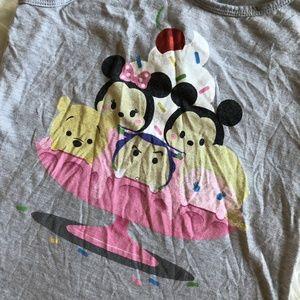 Disney Shirts & Tops - Disney Tsum Tsum Girls Large 10/12 Gray Tank Top